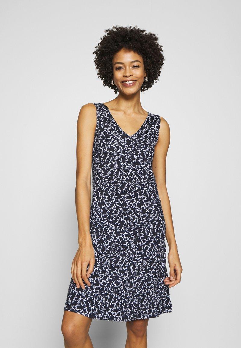 TOM TAILOR - Jersey dress - navy/flowery design