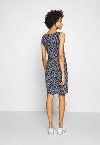 TOM TAILOR - Jersey dress - navy/flowery design - 2