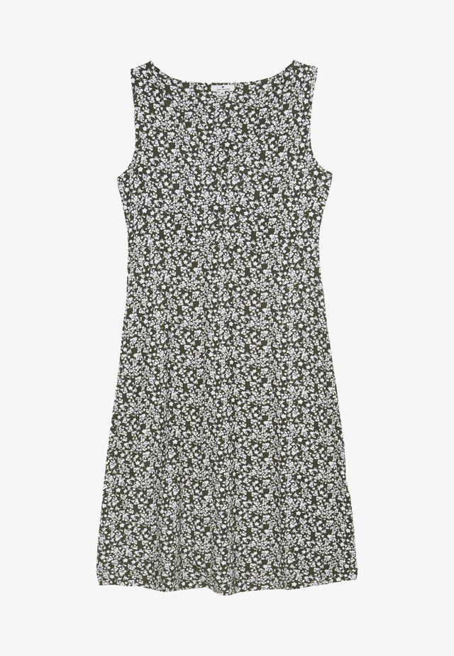 Sukienka z dżerseju - khaki/offwhite