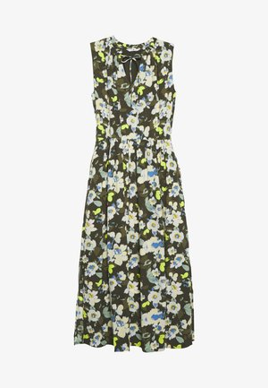 DRESS PRINTED - Maxi dress - khaki design green