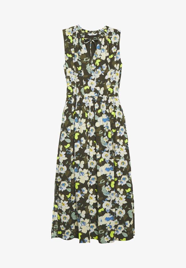 DRESS PRINTED - Maxi-jurk - khaki design green