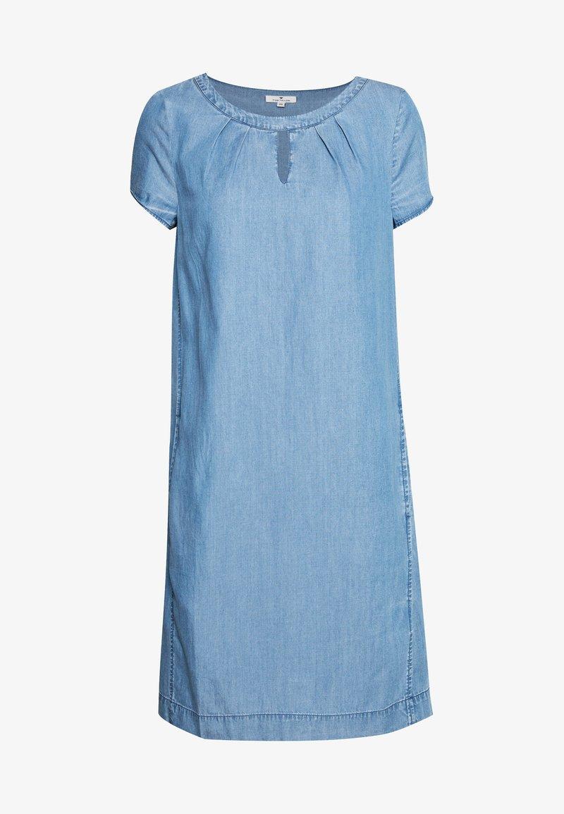 TOM TAILOR - DRESS - Dongerikjole - mid stone wash denim/blue
