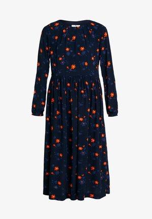 DRESS PRINTED MIDI - Denní šaty - navy/orange/blue