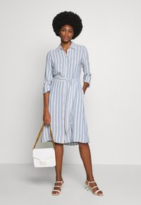 TOM TAILOR - STRIPED - Blousejurk - blue/yellow - 1