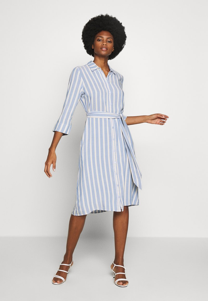 TOM TAILOR - STRIPED - Blousejurk - blue/yellow