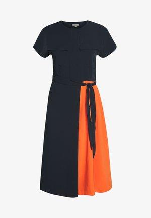PLEATED DRESS - Shirt dress - sky captain blue