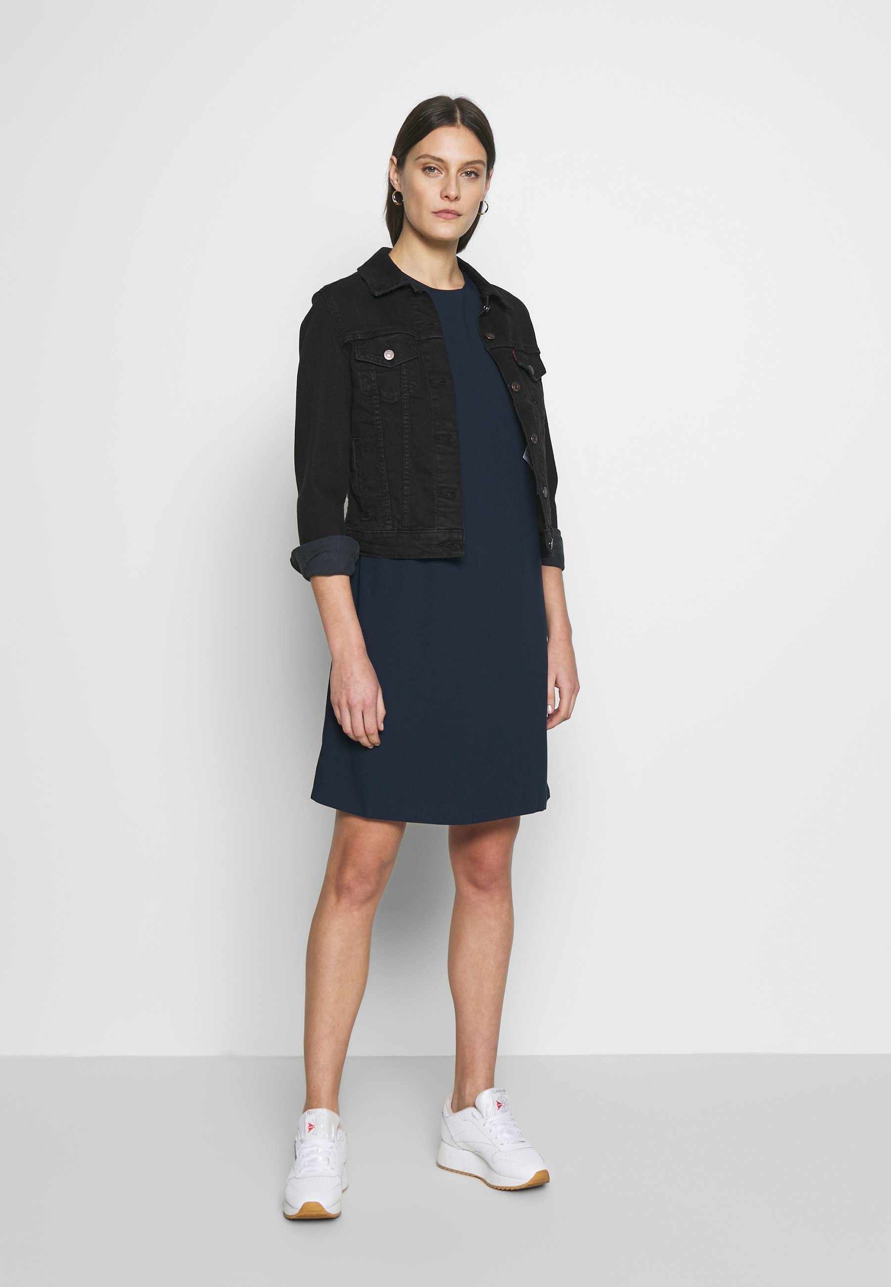 Mine To Five Tom Tailor Dress Easy Crepe Shift - Vardagsklänning Sky Captain Blue