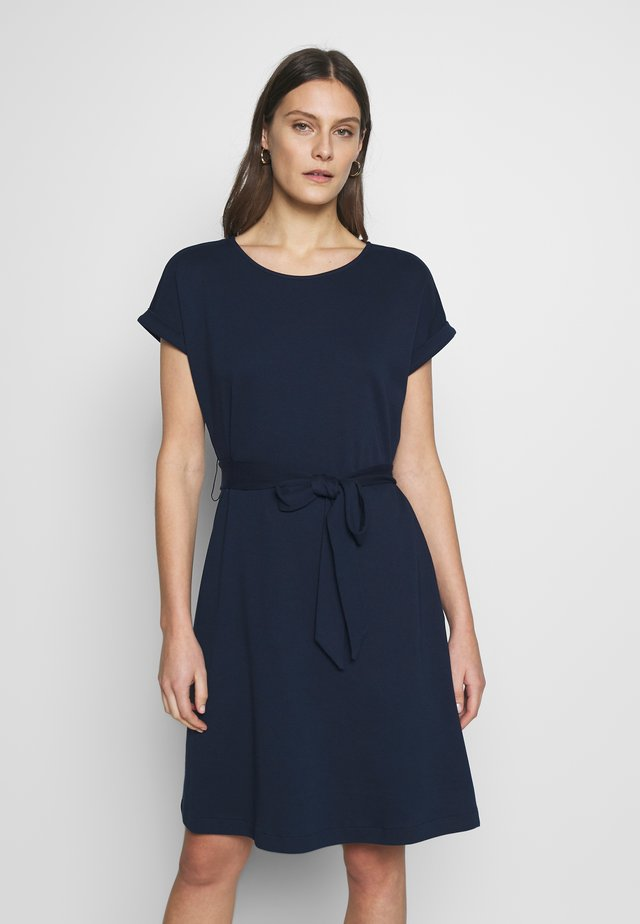 DRESS A-SHAPE BELTED - Korte jurk - sky captain blue