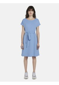 mine to five TOM TAILOR - DRESS A-SHAPE BELTED - Day dress - soft charming blue - 1