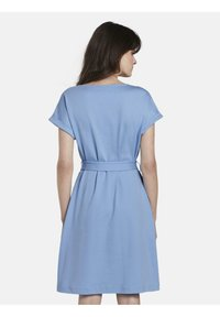 mine to five TOM TAILOR - DRESS A-SHAPE BELTED - Day dress - soft charming blue - 2