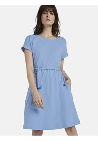 mine to five TOM TAILOR - DRESS A-SHAPE BELTED - Day dress - soft charming blue - 0