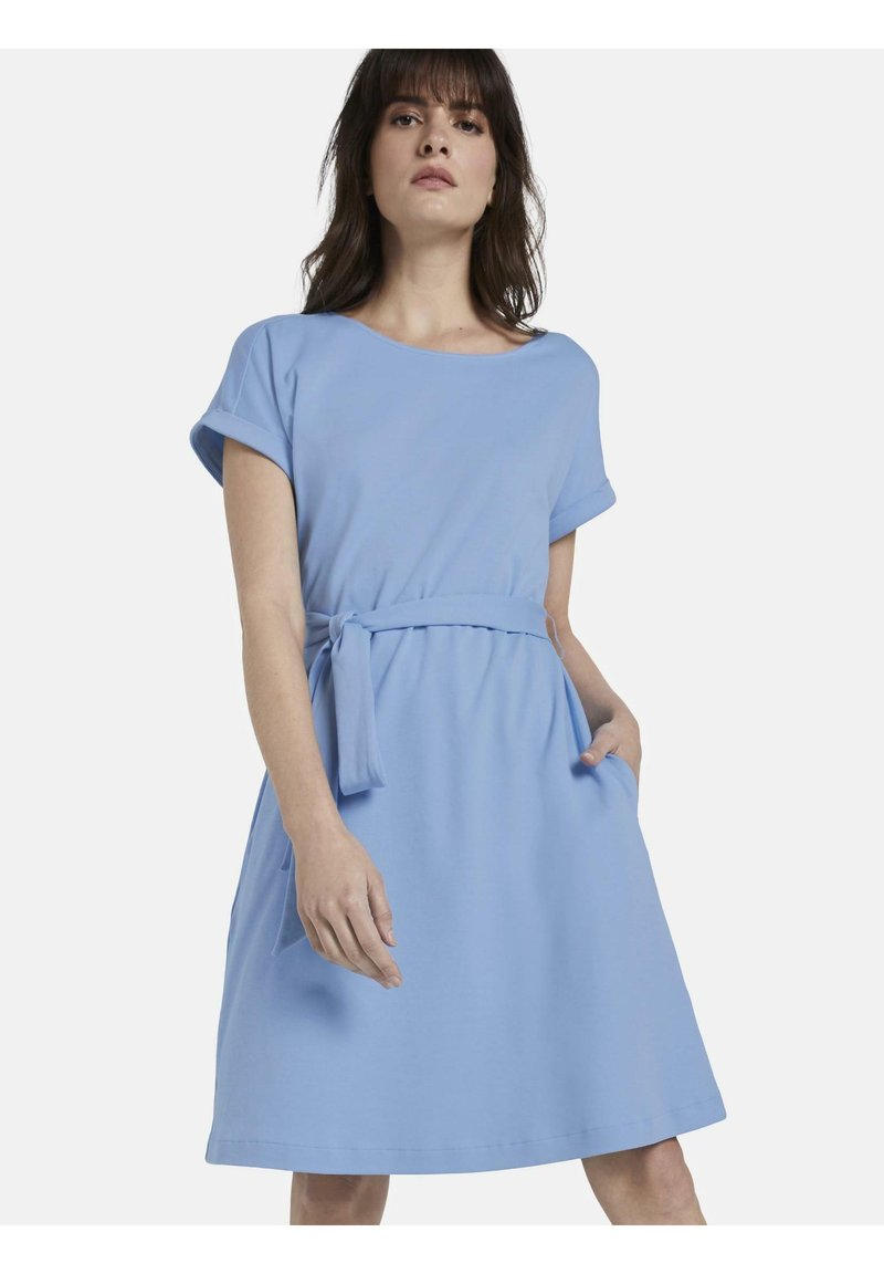 mine to five TOM TAILOR - DRESS A-SHAPE BELTED - Day dress - soft charming blue