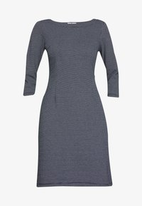 TOM TAILOR - STRUCTURED DRESS - Sweter - navy/white - 4