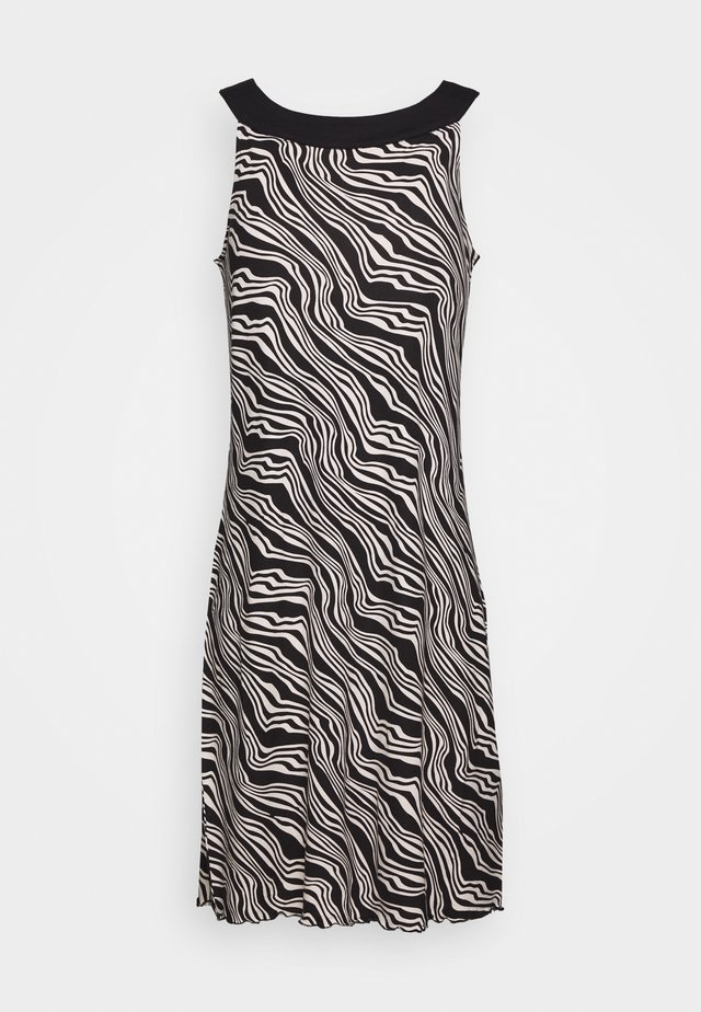 DRESS AMERICAN NECK - Sukienka z dżerseju - black