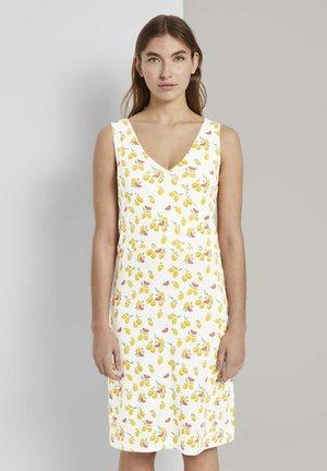 Day dress - offwhite fruit minimal