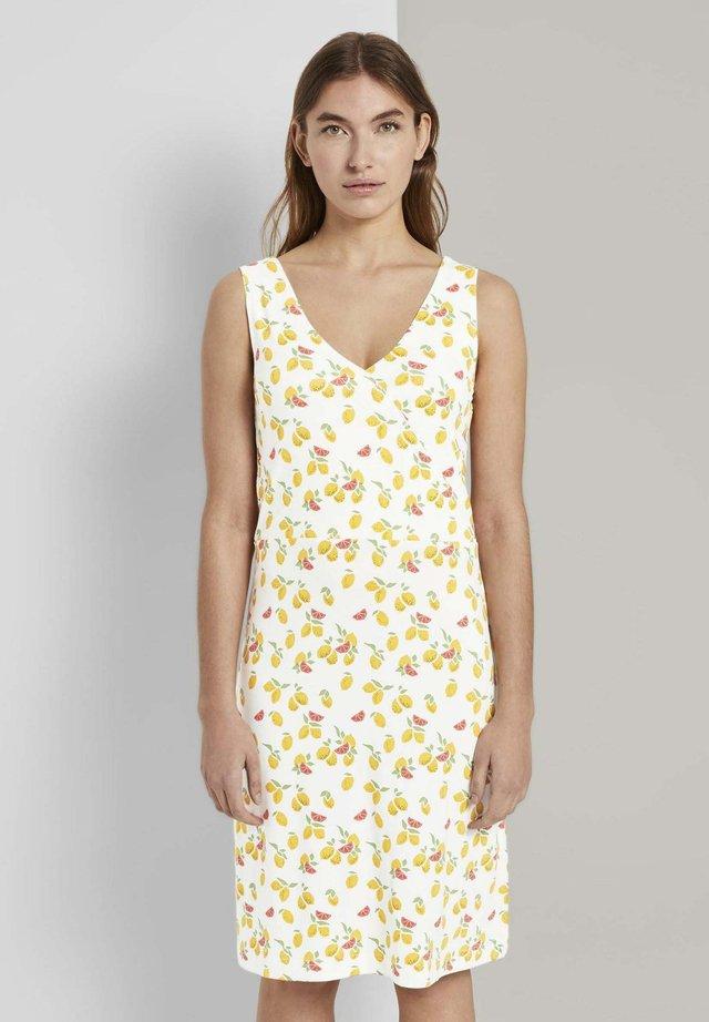 Korte jurk - offwhite fruit minimal