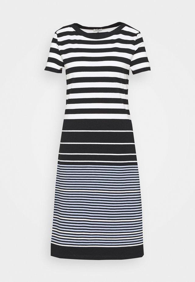 DRESS STRIPED - Sukienka z dżerseju - black/white