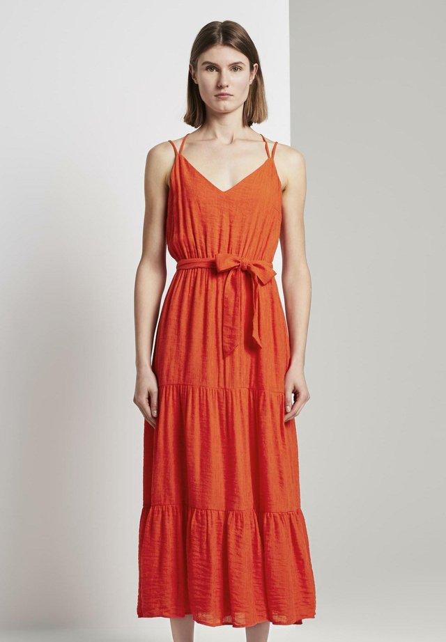 Korte jurk - strong flame orange
