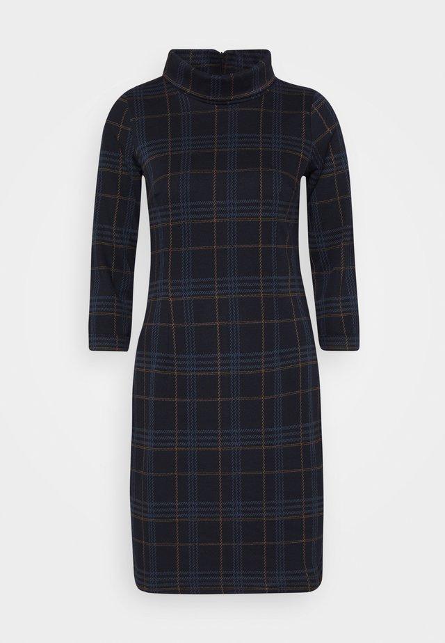 DRESS EASY SHAPE - Sukienka letnia - navy/blue/camel