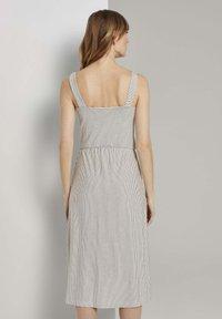 TOM TAILOR - Korte jurk - offwhite thin stripes - 2
