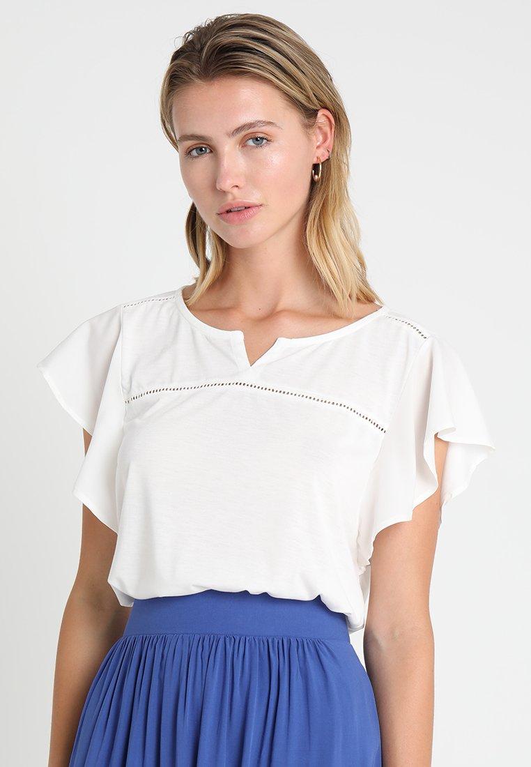 TOM TAILOR - FEMININE FLOUNCE - T-Shirt print - whisper white