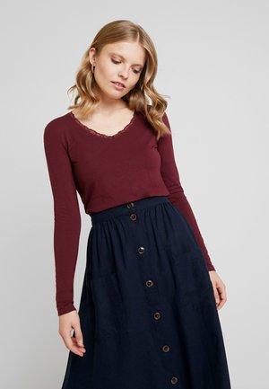 Long sleeved top - deep burgundy red