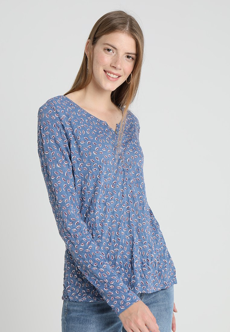 TOM TAILOR - CRINCLE - Langarmshirt - blue