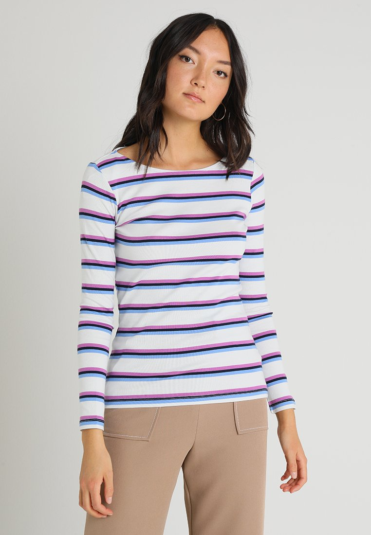 TOM TAILOR - STRIPE - Long sleeved top - white/multicolor