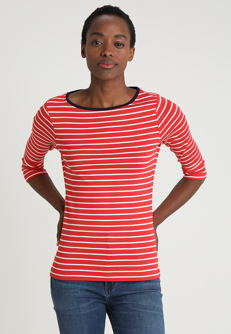 TOM TAILOR - STRIPE - Long sleeved top - red