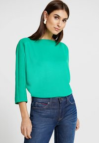 TOM TAILOR - FABRIC MIX - Pullover - light simply green - 0