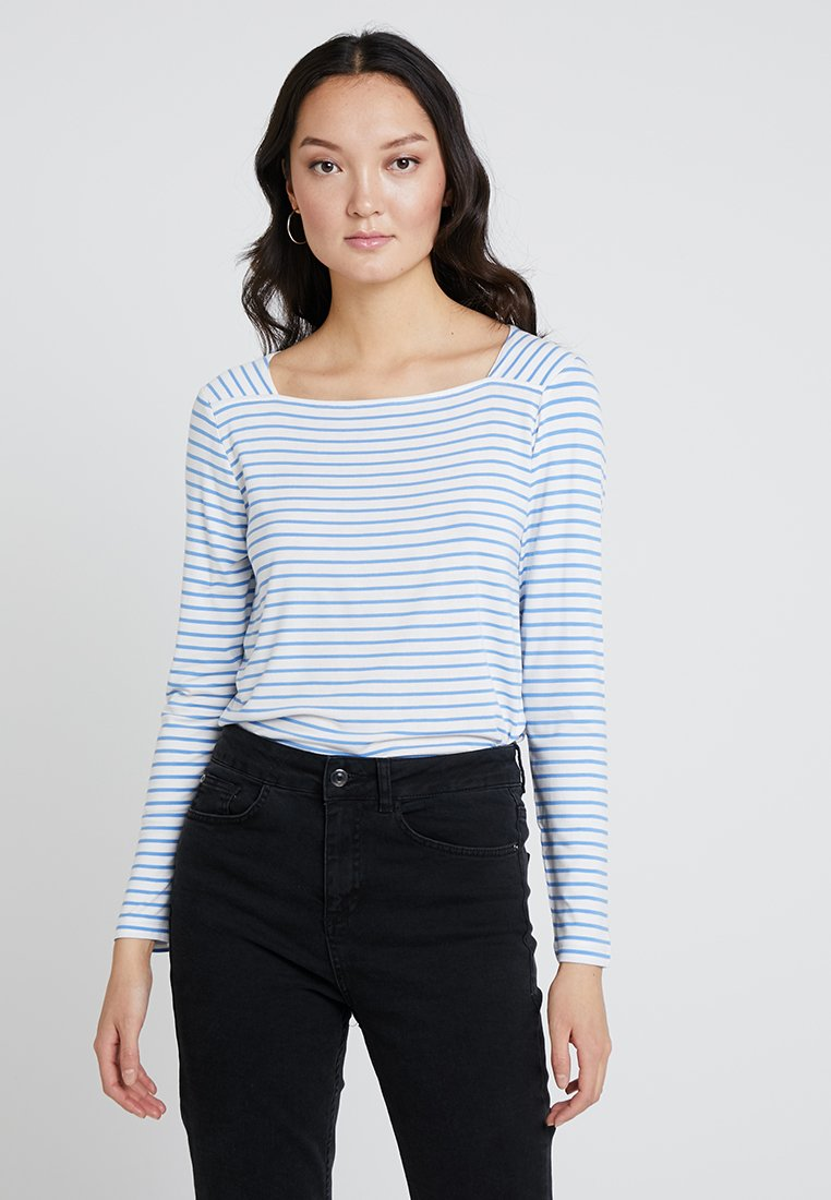 TOM TAILOR - STRIPE MIX - Long sleeved top - offwhite