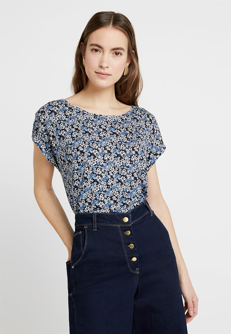 TOM TAILOR - Print T-shirt - navy/blue