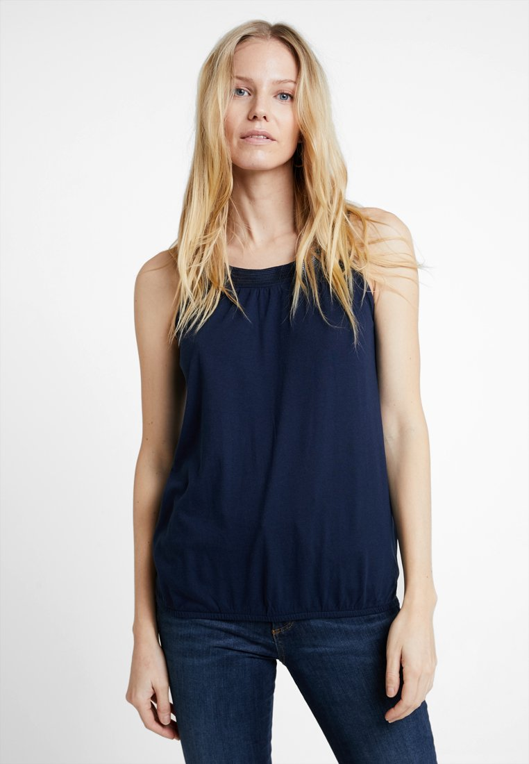 TOM TAILOR - SLEEVELESS SOLID - Top - real navy blue