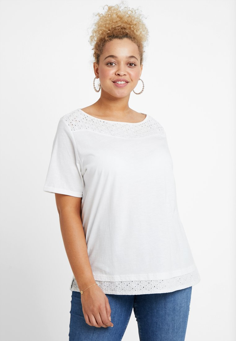MY TRUE ME TOM TAILOR - Camiseta estampada - whisper white