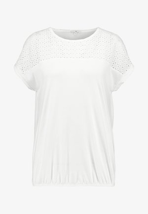 WITH SCHIFFLI - Camiseta estampada - whisper white