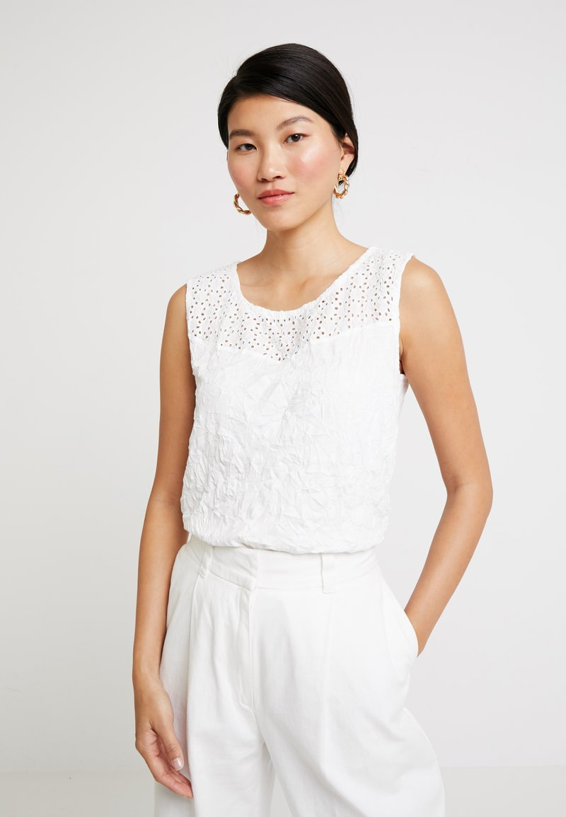 TOM TAILOR - WITH CRINCLE - Top - whisper white