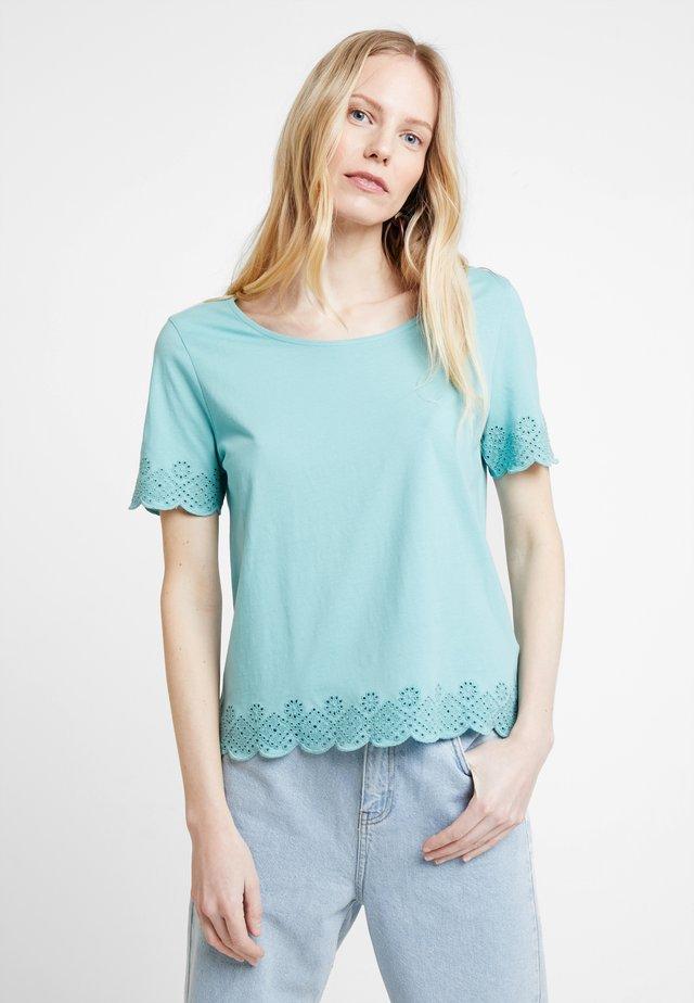 Print T-shirt - canton green