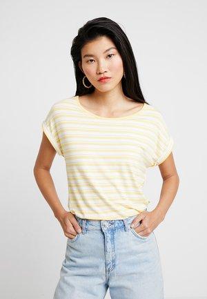 DETAIL AT BACK - T-shirt z nadrukiem - offwhite/yellow