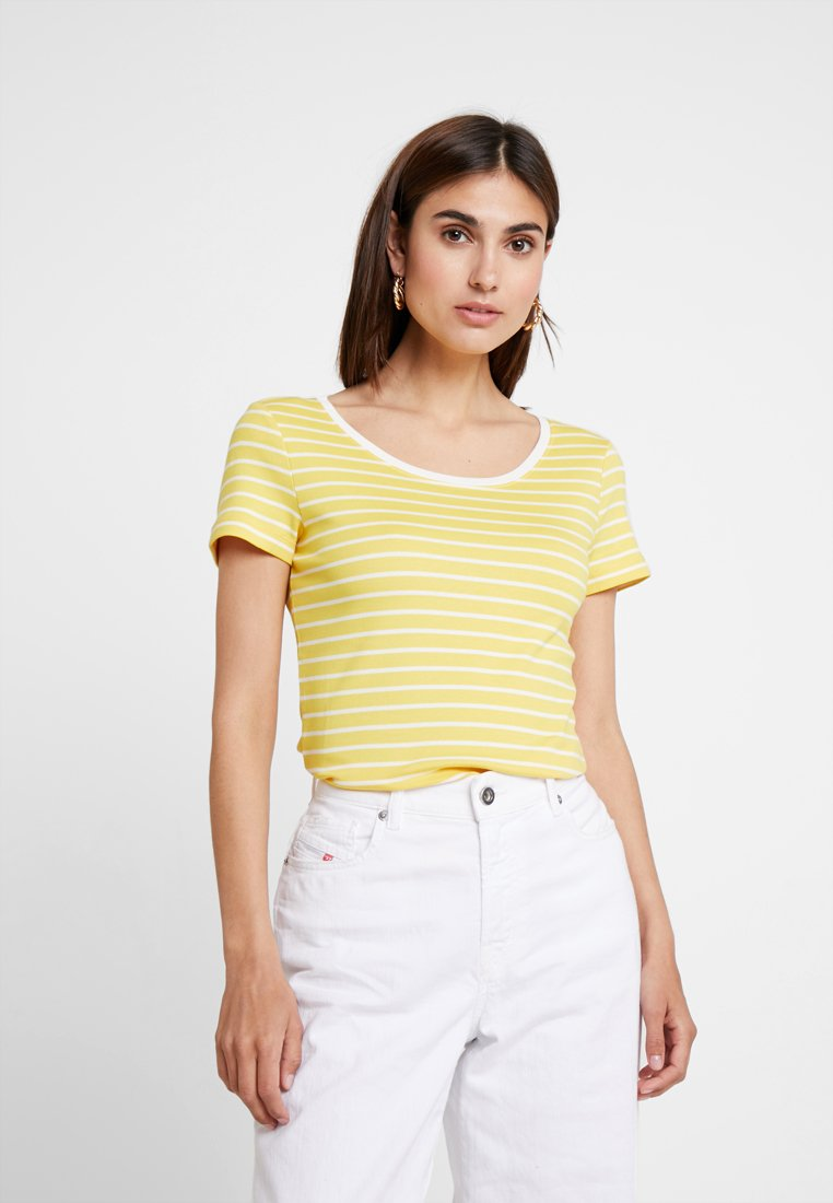 TOM TAILOR - STRIPED - T-shirts print - yellow