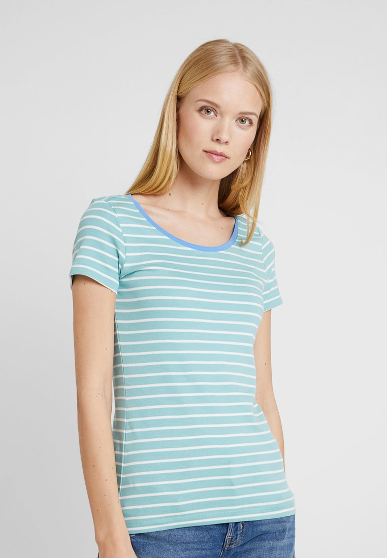 TOM TAILOR - STRIPED - T-shirts med print - green