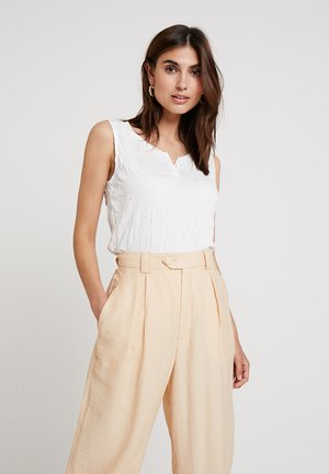CRINCLE SOLID - Top - whisper white