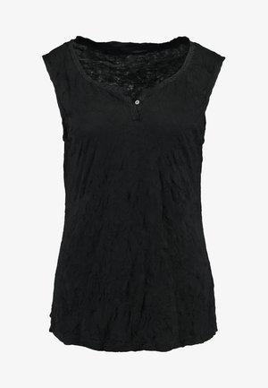 CRINCLE SOLID - Top - deep black