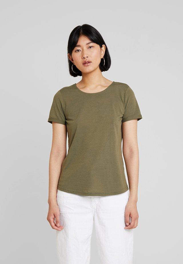 T-shirt z nadrukiem - dry greyish olive