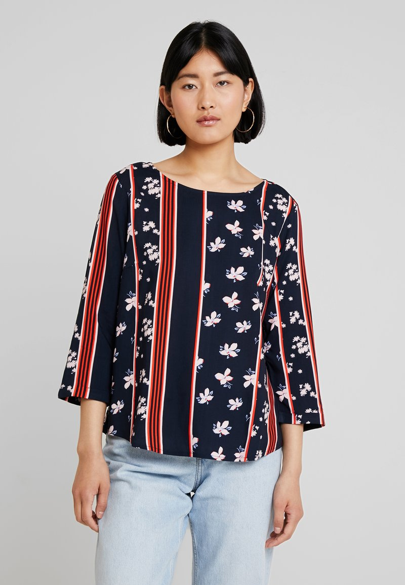 TOM TAILOR - BLOUSE WITH BACK PLACKET - Blusa - navy blue