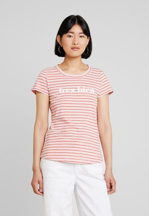 STRIPE - T-shirt print - rose orange
