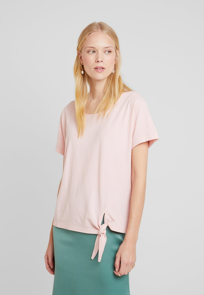 TOM TAILOR - KNOT DETAILING - T-shirt con stampa - summer lotus