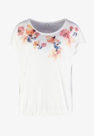FRONTPRINT - Print T-shirt - whisper white