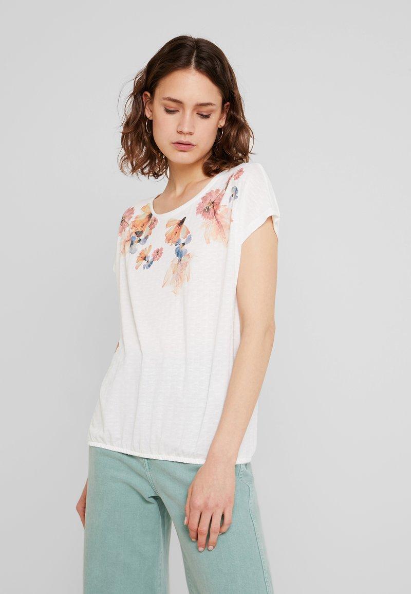 TOM TAILOR - FRONTPRINT - T-Shirt print - whisper white