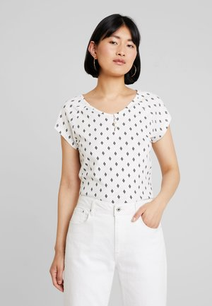 HENLEY WITH PRINT - T-shirts med print - off white