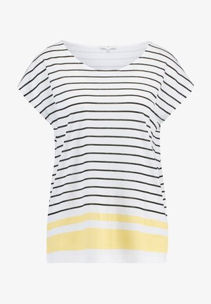 PLACED STRIPE - T-shirt con stampa - whisper white